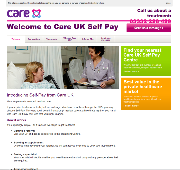 Care UK Self Pay