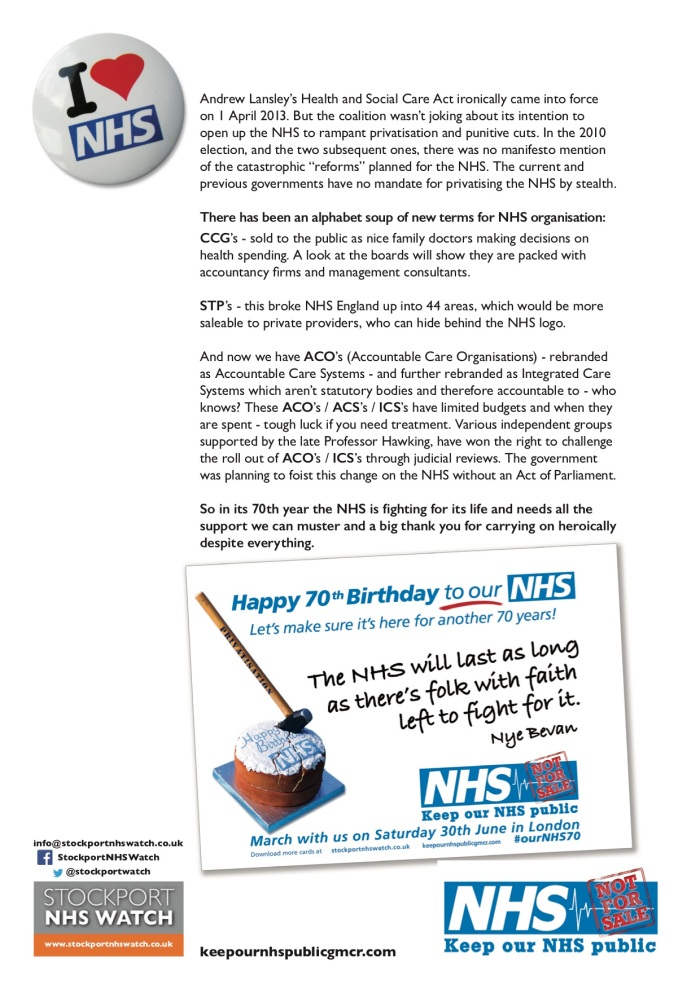 B KONP A Birthday Card For Our NHS Campaign Details ourNHS70
