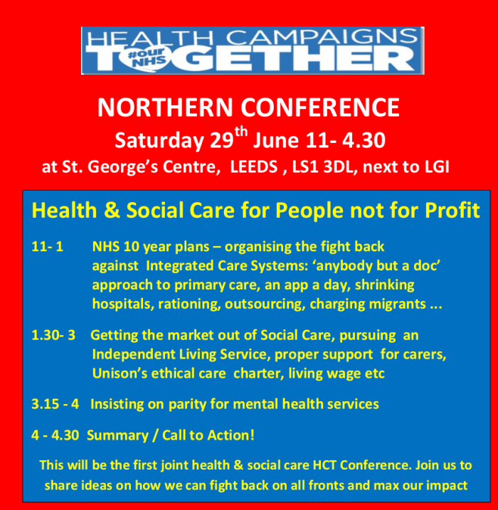 HCT Northern Conference 29.6.19 flier